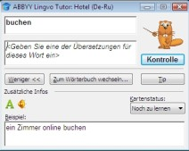 Vokabeln lernen im ABBYY Lingvo Wörterbuch x3