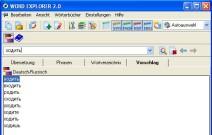 Wortvorschläge im E-Wörterbuch Russisch/Deutsch Word Explorer 2.0