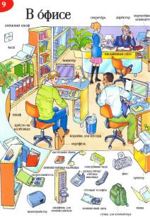 Bilder aus einem russischen Office im ELI Illustrierten Wortschatz Russisch