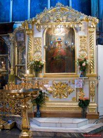 Original der in der Christi-Himmelfahrts-Kirche gefundenen Ikone der Gottesmutter, Kolomenskoje