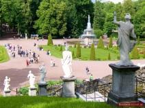 Römische Fontäne vor der Schachbrett Kaskade
