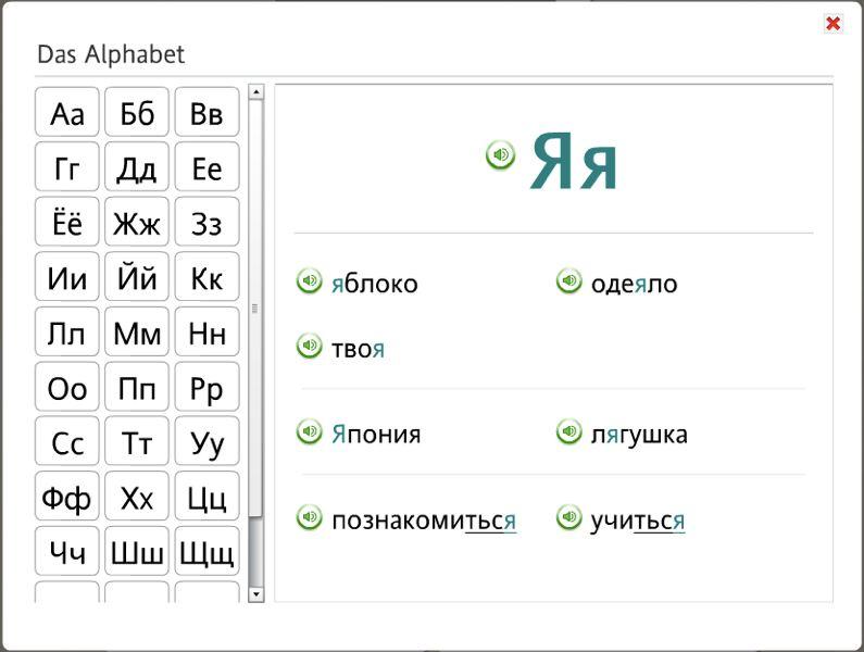 Das russische Alphabet bei Rosetta Stone Russisch TOTALe