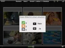 """Ergebnis-Fenster """"Diesen Bildschirm erneut versuchen?"""" bei iPad-App Rosetta Course Russisch"""