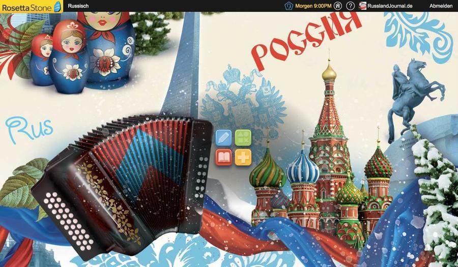 Hintergrundbild mit russischen Motiven von Rosetta Stone Russisch TOTALe
