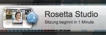 "Hinweis im Rosetta Studio ""Sitzung beginnt in 1 Minute"" bei Rosetta Stone Russisch TOTALe"