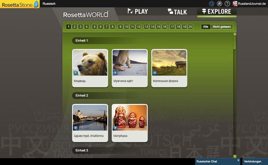 5 Bilder zu Geschichten auf Russisch bei Rosetta Stone Russisch TOTALe
