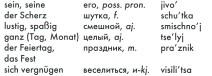 Grundwortschatz Russisch DJ Learn-a-lot, Teil 2, Begleitheft