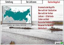 Übersichtsseite vom Nachschlageteil bei Hueber Russisch multimedial