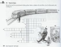 Kreuzworträtsel mit Vokabeln zu Bahnreisen aus dem Kljutschi 1 Arbeitsbuch
