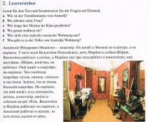 Eine Übung zum Leseverstehen aus dem Lehrbuch von Lextra Russisch Sprachkurs Plus