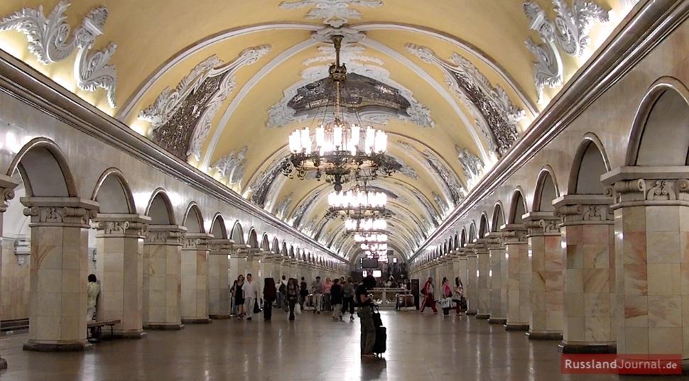 Halle der Station Komsomolskaya der Moskauer Metro