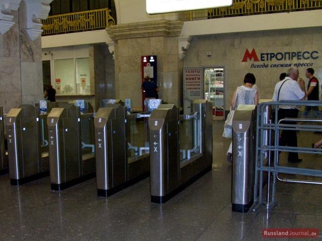 Zugangsschranken in der Moskauer Metro