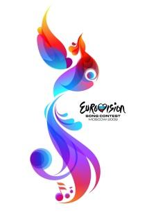 Rot-blauer Feuervogel: Das Logo des Eurovision Song Contests 2009 in Moskau
