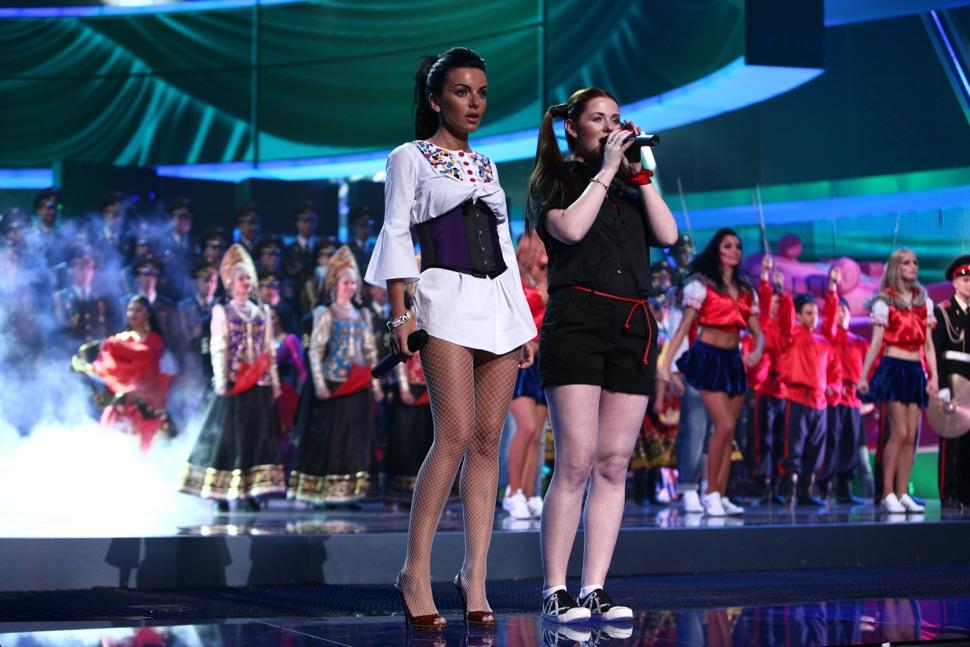 Das Mädchenduo t.A.t.U. bei der Eurovision 2009
