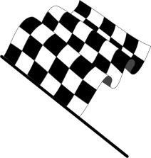 Schwarz-weiß karierte Flagge