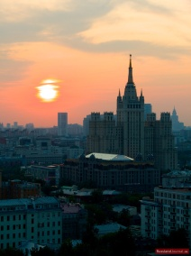 Sonnenuntergang in Moskau