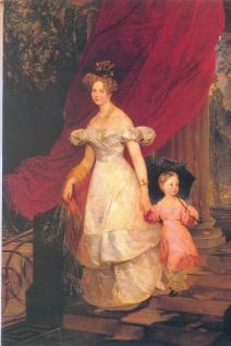 Gemälde: Porträt der Großfürstin Elena Pawlowna mit Tochter Maria