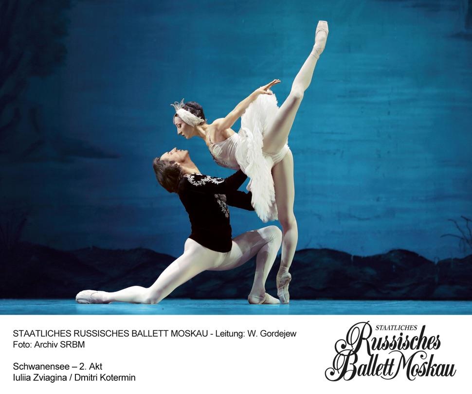Szene aus dem Ballett Schwanensee, Prinz Siegfried und Schwanenprinzessin Odette
