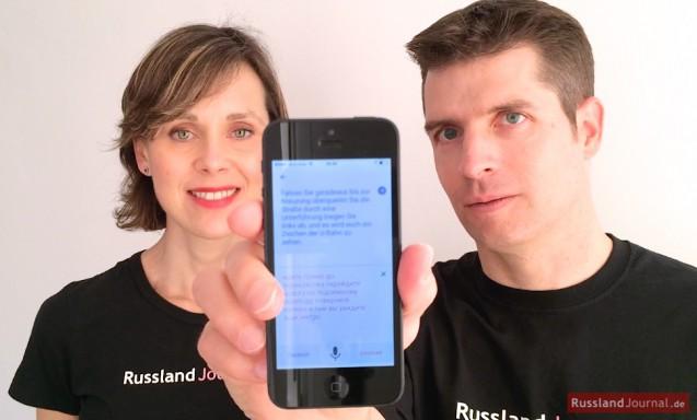 Google Übersetzer App für Russisch auf dem iPhone