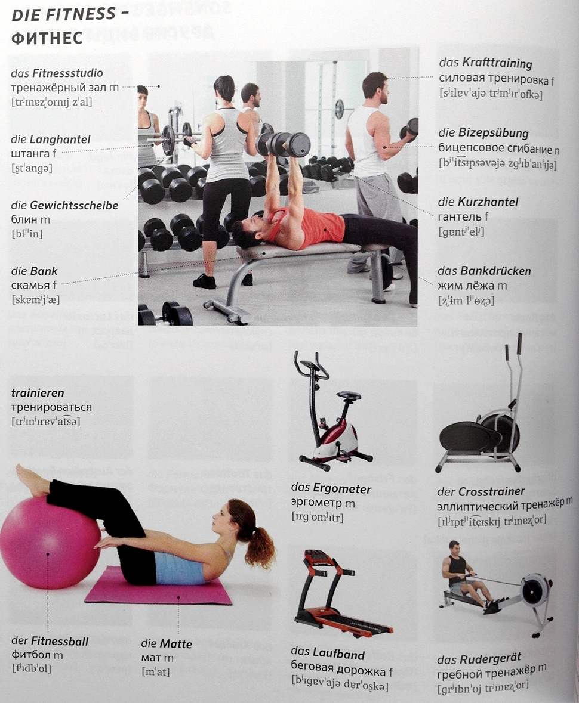 PONS Bildwörterbuch Russisch Deutsch Fitness