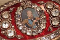 Portrait des Zaren Alexander III. auf der Bismarck Box.