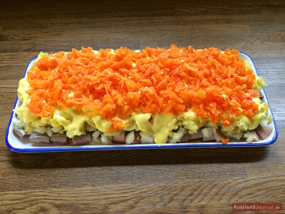 Hering im Pelzmantel Karotten-Schicht