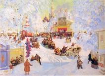 Maslenitsa, Gemälde von Boris Kustodijew