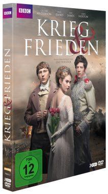 BBC TV Miniserie Krieg & Frieden DVD-Cover in 3D