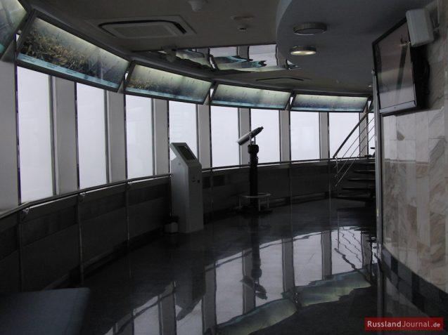 Geschlossene Aussichtsplattform im Fernsehturm Ostankino in Moskau