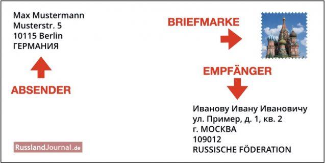 Brief nach Russland Layout