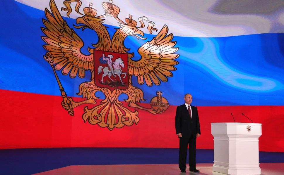 Präsident Wladimir Putin bei der Föderalversammlung