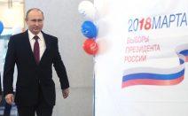 Wladimir Putin bei den Wahlen am 18.03.2018.