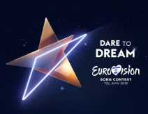 Logo mit Motto Dare to Dream des Eurovision Song Contests 2019 in Tel Aviv, Israel
