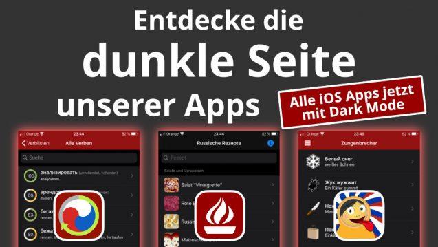 iOS Apps mit Dark Mode