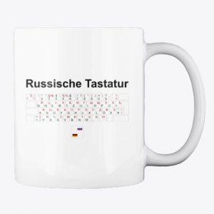 Russische Tastatur Tasse