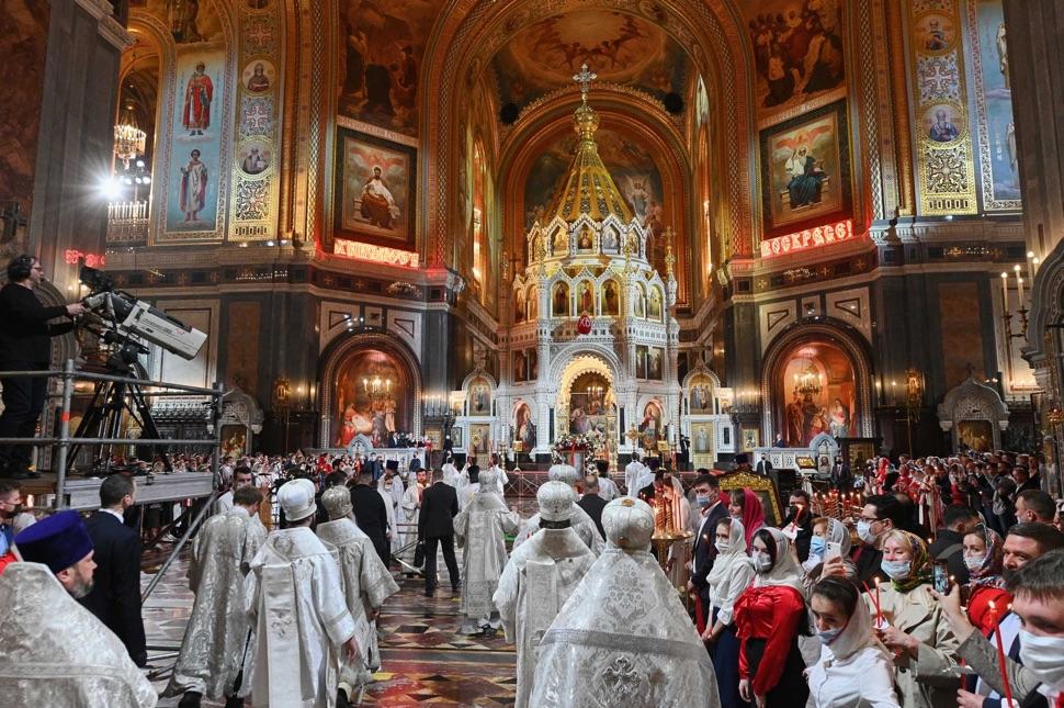 Menschen in der Christ-Erlöser-Kathedrale