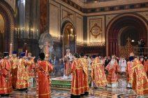 Ostermesse in der Christ-Erlöser-Kathedrale
